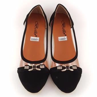 Detail Gambar Produk TrendiShoes Sepatu Wanita Flat Shoes Trans Side 082 - Hitam Terlengkap