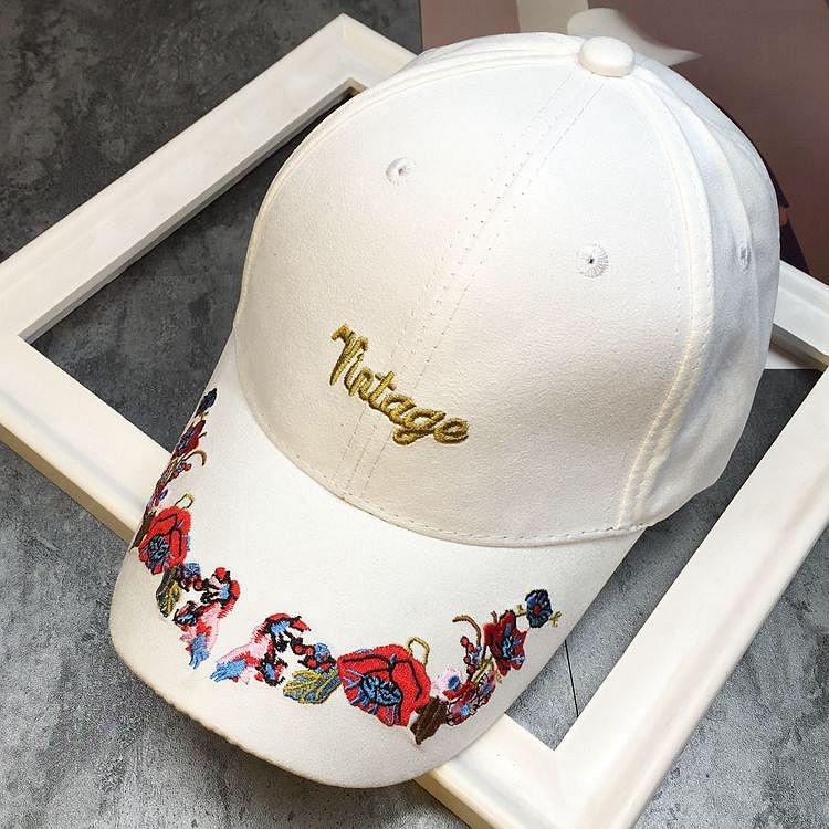 Tuan kepribadian perempuan bordir topi baseball cap topi (Putih)