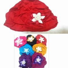 turban bunga permata turban baby adem