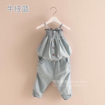 harga Tz-0797 versi Korea dari denim baru anak-anak musim panas (Denim biru) Lazada.co.id