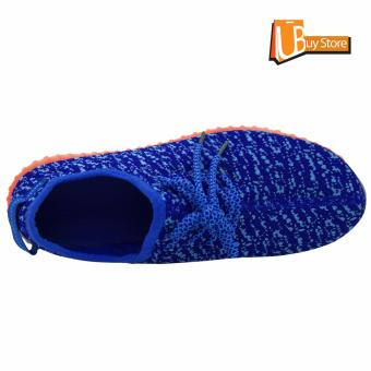 Ubuy LED Light Lace Up Sepatu Luminous Sportswear Sneaker Luminous Unisex Sepatu Casual (biru) - 4