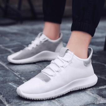 Udara sejuk sepatu pria sepatu basket sepatu olahraga (putih) -International