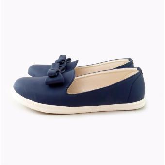 Uhibbuki Lace Flatshoes - Navy - 2 .