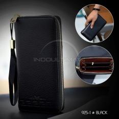 Ultimate Dompet Pria Wanita Panjang Import+ Tali/Handbag Murah/Unisex/Fashion Men Wallet Long With Zipper IM FS 9251 - Black