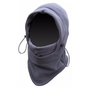Universal Masker Buff Balaclava Multifungsi Ninja Polar 6 in 1 Full Face - Grey