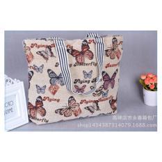 Universal Tas Fashion Wanita Tote Bag Canvas - Motif Butterfly