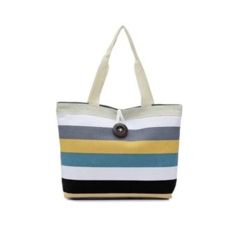 Universal Tas Fashion Wanita Tote Bag Canvas - Rainbow Seri F