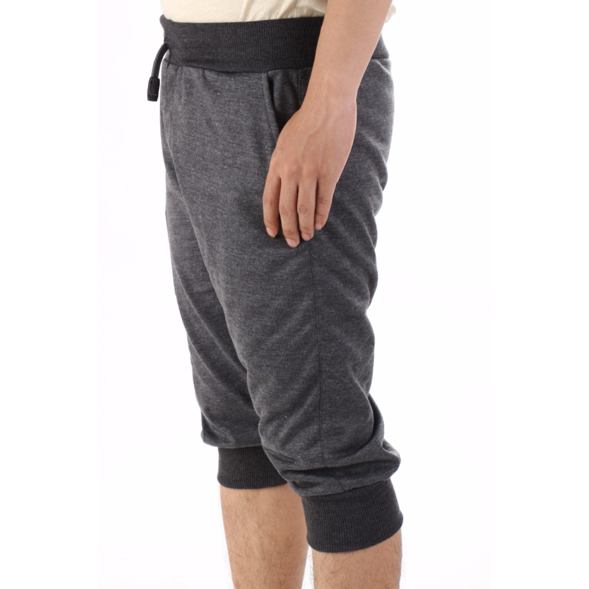 Valatex Celana pendek jogger - Abu tua .