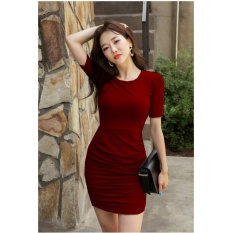 vanessa dress korea maroon