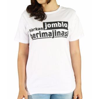 Vanwin - Kaos Cewek / T-Shirt Wanita / Tumblr Tee Jomblo Imajinasi - Putih