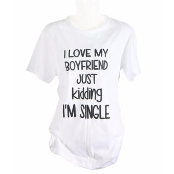 Vanwin - Kaos Cewek / Tumblr Tee / T-Shirt Wanita I Love my Boy