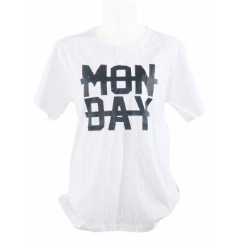 Vanwin - Kaos Cewek / Tumblr Tee / T-Shirt Wanita Monday - Putih