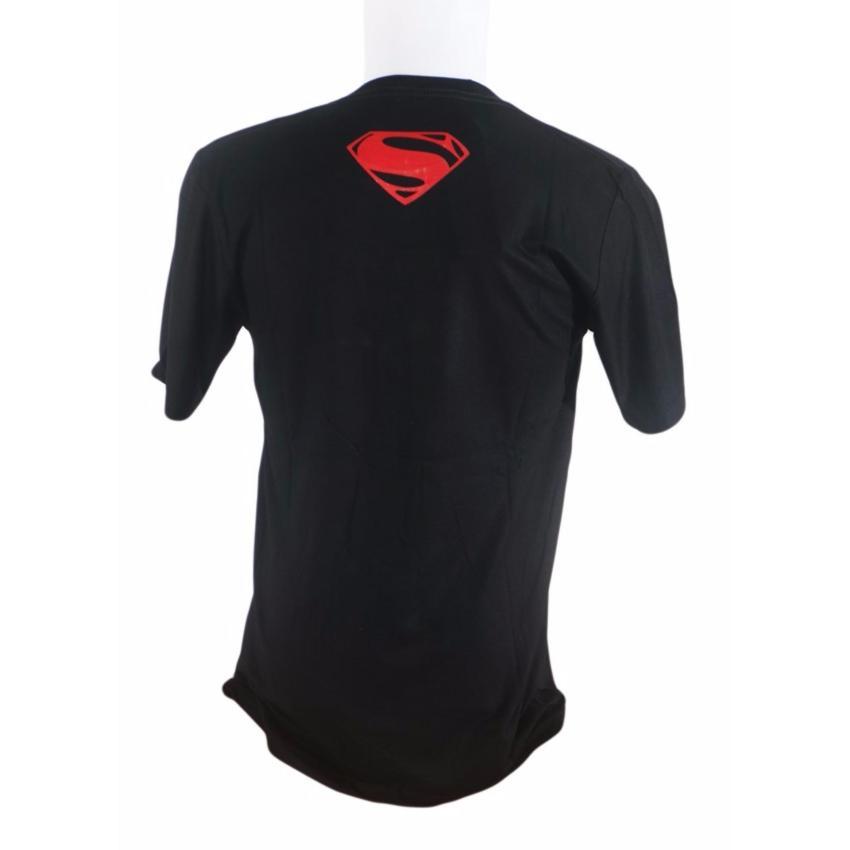 Vanwin - Kaos T-Shirt Distro Premium Super Man Siluet - Hitam Putih