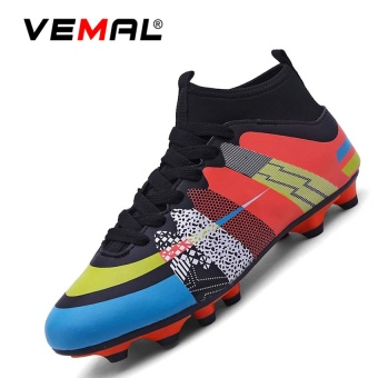 VEMAL Men's Sport Shoes Spike Soccer Boots Cleats Outdoor Football Shoes Boots Black - intl
