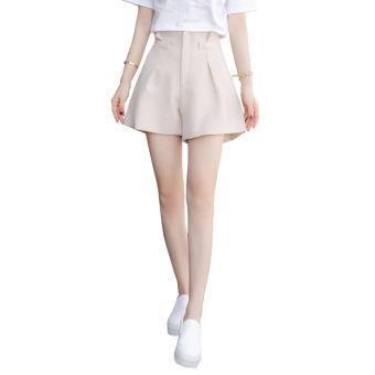 Gambar Versi Korea baru musim panas kata pinggang tinggi lebar kaki celana celana pendek (Beige