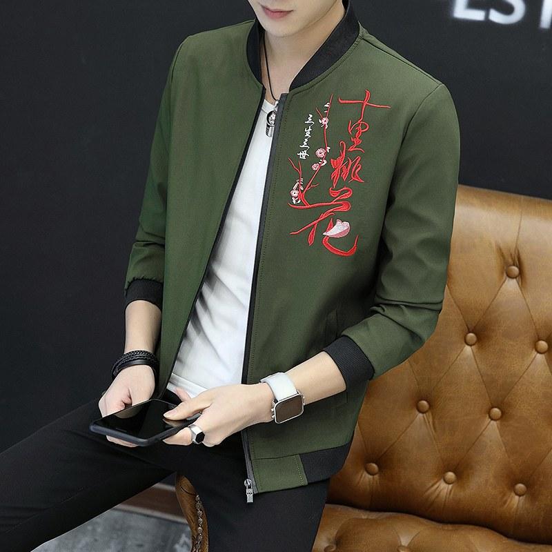 Flash Sale Versi Korea baru Pria siswa jaket Slim jaket kasual (29  model-tentara 1aa30b74da