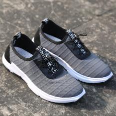 Versi Korea bernapas jala baru sepatu sepatu siswa olahraga sepatu (Abu-abu)