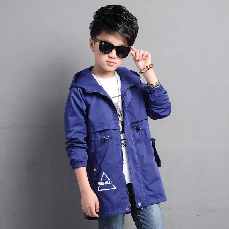 Versi Korea dari anak besar anak baru bagian panjang jaket jaket Musim Semi dan Gugur (