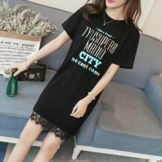 ... rok Lengan Panjang Gaun (Hitam). Source · Versi Korea dari bagian panjang katun lengan pendek baju t-shirt (Menonton toko untuk