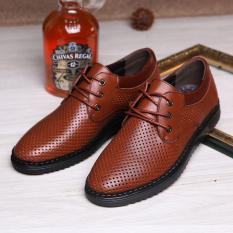 Versi Korea dari bernapas sepatu sepatu lubang (3115 coklat)