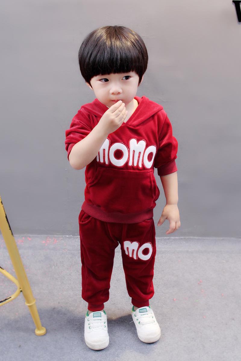 Flash Sale Versi Korea dari kapas musim semi dan musim gugur baru kasual olahraga sweater (Merah)