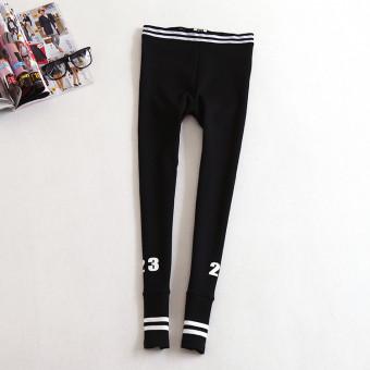 Versi Korea dari kapas musim semi dan musim gugur celana olahraga baru ( Hitam)