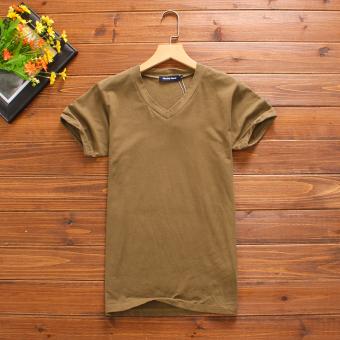 Versi Korea dari katun warna solid stretch musim panas pria (Tidak ada gesper acar)