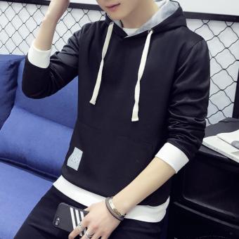 Versi Korea dari lindung nilai beberapa pada sweater baru mantel (Hitam)