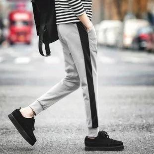 Gambar Versi Korea dari musim semi baru Slim celana olahraga (Antara abu abu celana kasual