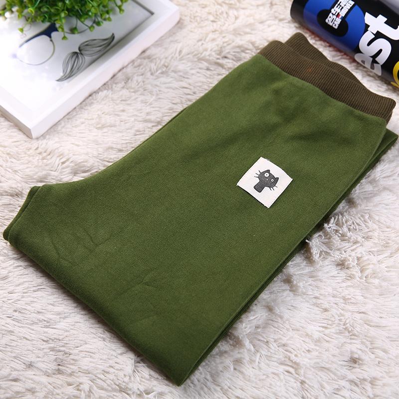 Flash Sale Versi Korea dari Musim Semi dan Gugur anak kucing bagian tipis ketat celana (Hijau gelap) (Hijau gelap)
