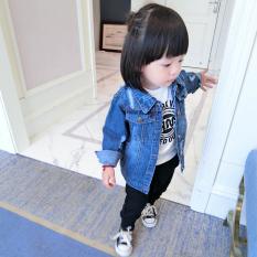 Versi Korea dari musim semi dan musim gugur bayi dan anak-anak jaket denim (