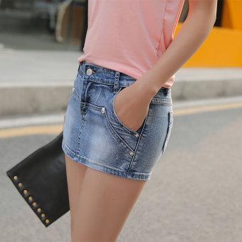 Versi Korea dari musim semi dan musim panas baru tipis liar rok celana pendek rok (