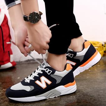 Harga Versi Korea dari sepatu n kata sepatu sepatu lari mahasiswa (Oranye biru (