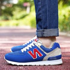 Versi Korea dari sepatu n kata sepatu sepatu lari mahasiswa (Safir biru  merah (570 e59123f01c