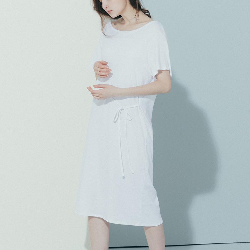 Versi Korea dari wanita yang longgar adalah baju tipis t-shirt ([Putih]