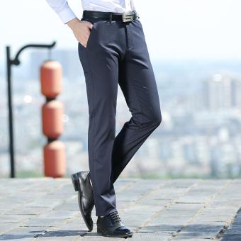 ... Gambar Versi Korea remaja musim gugur bagian tipis katun celana panjang pria celana kasual Biru
