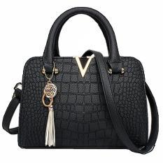 Vicria Tas Branded Wanita - Korean High Quality With Exclusive Unique Tuft - BLACK