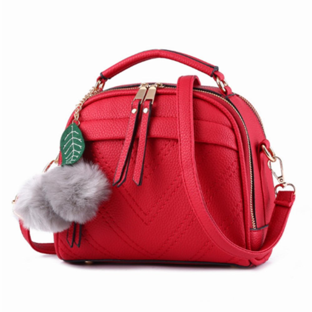Review of Vicria Tas Branded Wanita With Pompom - High Quality PU Leather Korean Elegant Bag