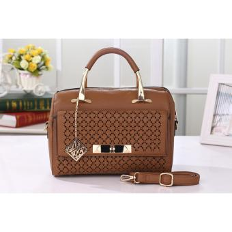 Vicria Tas Import Wanita High Quality PU Leather Korean Elegant Bag Style  Tas Branded 506 Camel 3a1ff09853