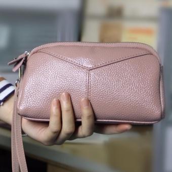 Victory Ladies wallet Han edition Fashion leather Zero wallet(Pink) intl. - intl