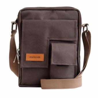 Vim Bag Hoozler Tas Selempang Pria Smartphone Organizer Muat HP/Power Bank/Tablet 8 Inch [Brown/Coklat]