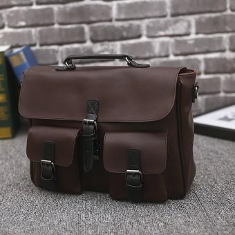 Tas Vintage Penting Untuk Pria Kulit Asli Tas Komuter Tas Klasik Tas Bisnis Tas Tote Bag