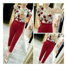 GSD - Setelan Baju Celana Kulot Muslim - Set Kotak Red. Source · Rp 67.000