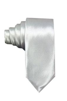 VM Dasi Pria Polos Slim 2 inch - Abu-abu