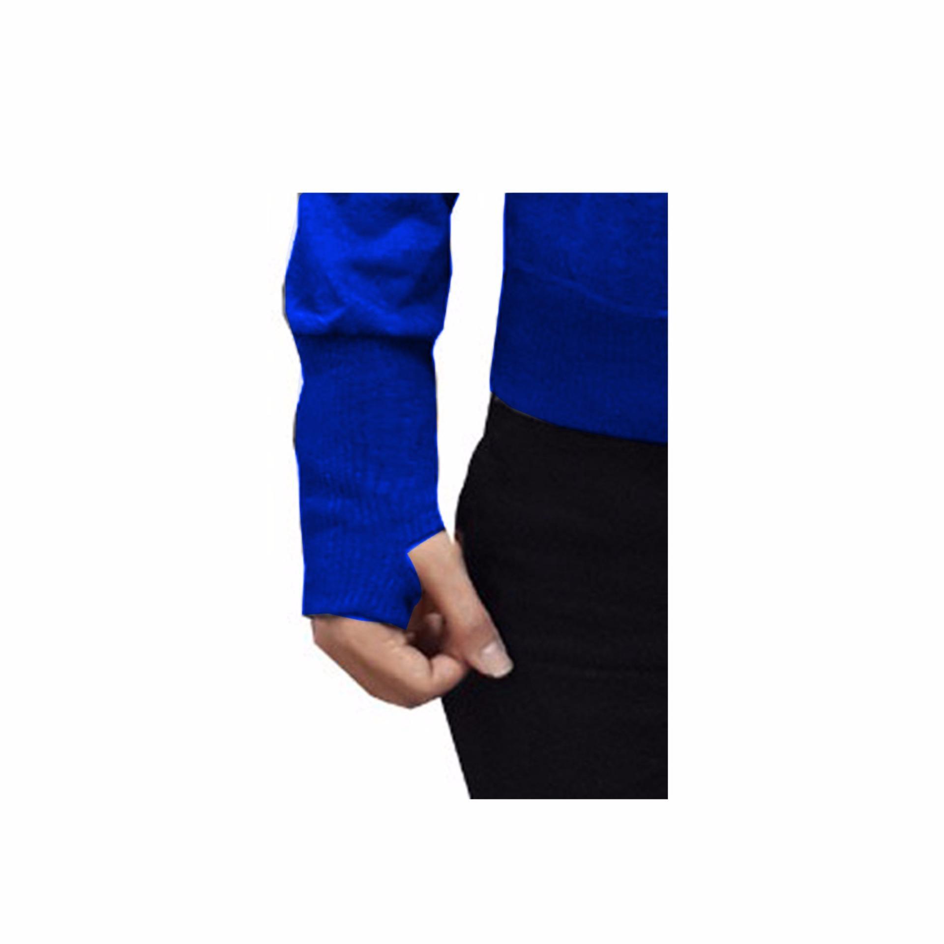 Terbaik Murah Vm Jaket Zipper Hoodie Biru Benhur Ariel Finger