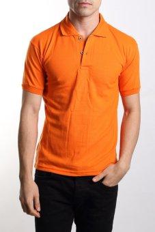 VM - Kaos polo shirt polos orange pendek - simple short polo shirt