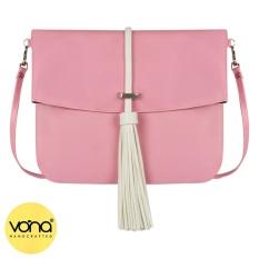 VONA Ferris (Pink) - Best Seller New Handbag Tas Clutch Selempang Rumbai Crossbody Shoulder Casual Bag Small Slempang Wanita Korean Style Trendy Tote