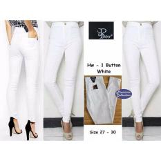 Vrichel Collection Celana Panjang Highwaist Jeans Pinny (Putih)