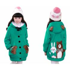 Vrichel Collection - Jaket Anak Perempuan Bear & Bunny (Tosca)
