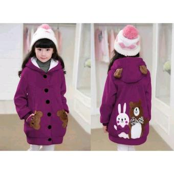 Vrichel Collection - Jaket Anak Perempuan Bear & Bunny (Ungu)